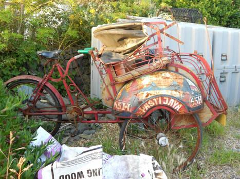 A rusted bike in Cornwall