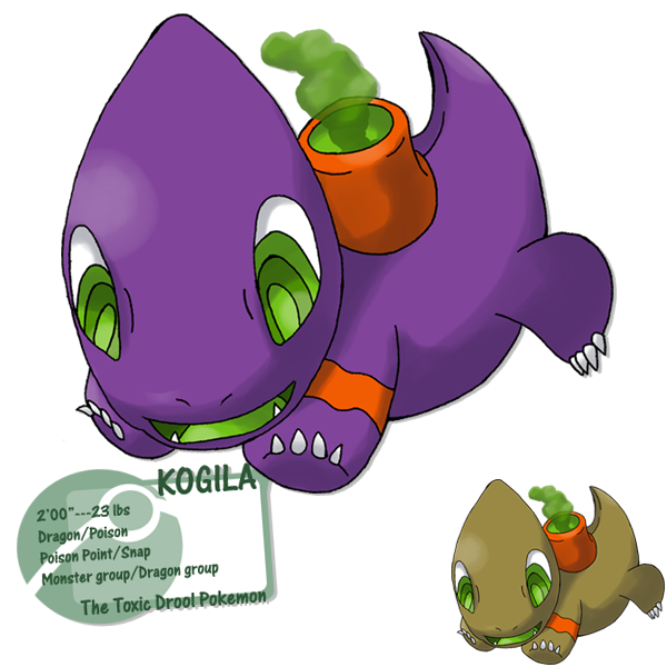 Little Poison Lizard By G Fauxpokemon On Deviantart