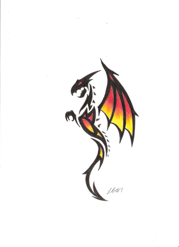 22 Tribal Dragon Tattoo Designs, Images And Pictures  Tribal Art Dragon Simple
