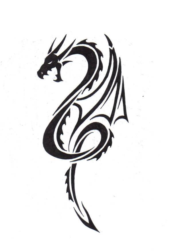 Tribal Dragon by LBalch86