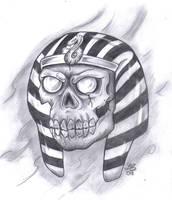 Egyptian Possessed Skull by LBalch86