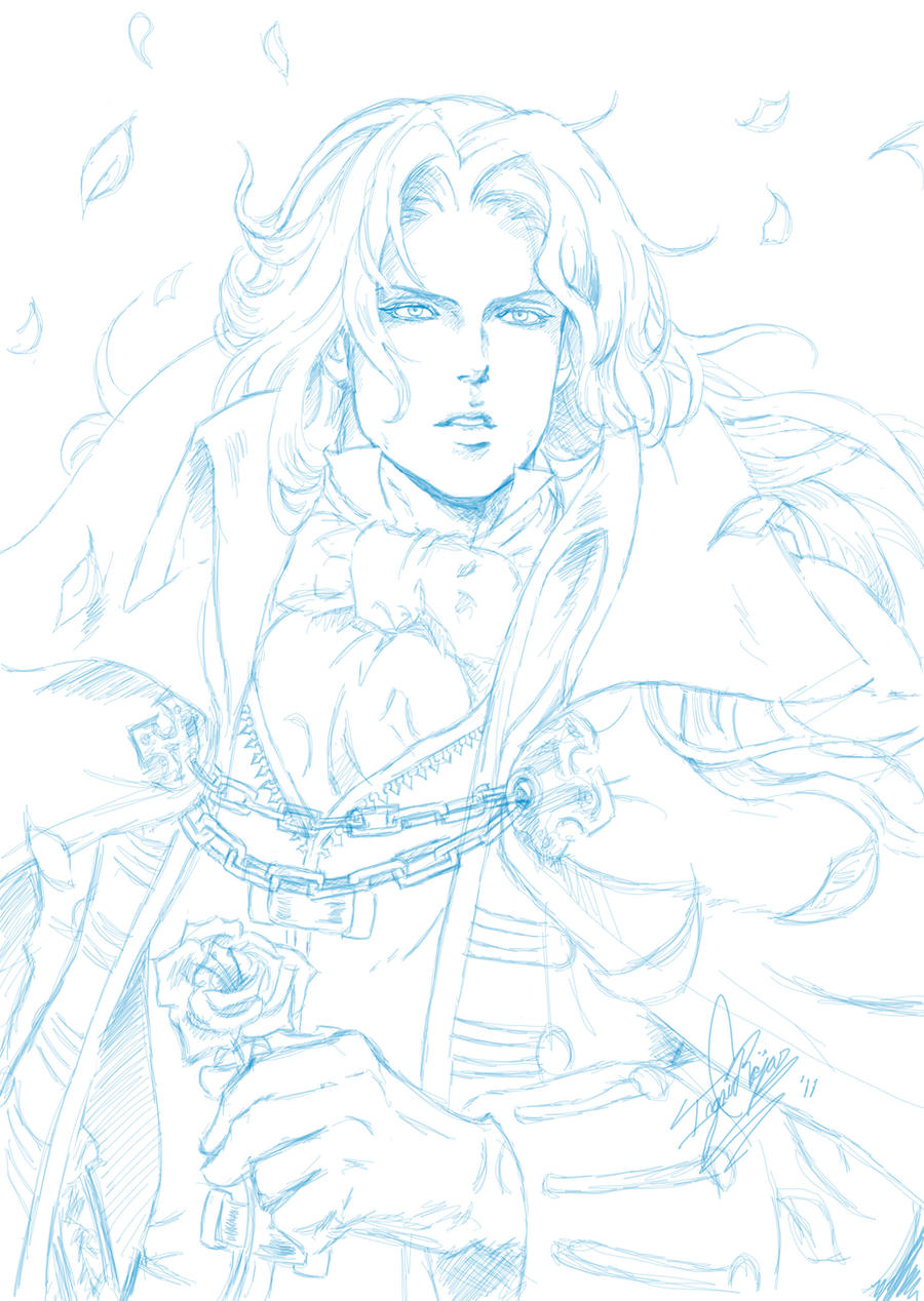 Alucard Sketch by ClAyMoRe--MiRiA