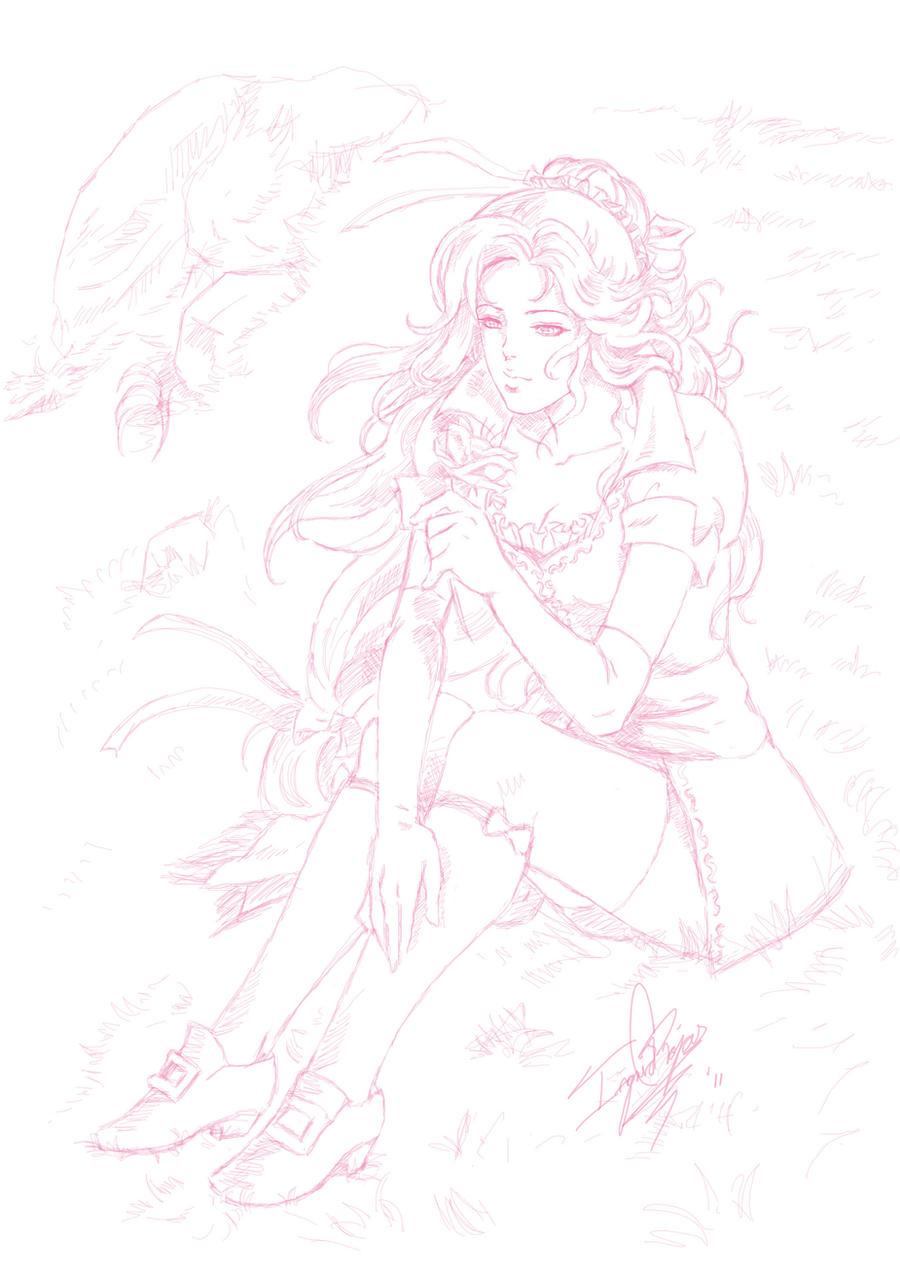 Maria Sketch by ClAyMoRe--MiRiA