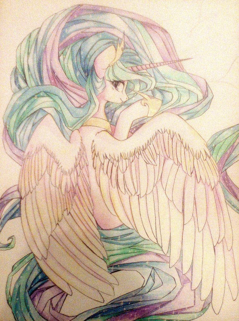 Princess Celestia by GLaSTALINKA