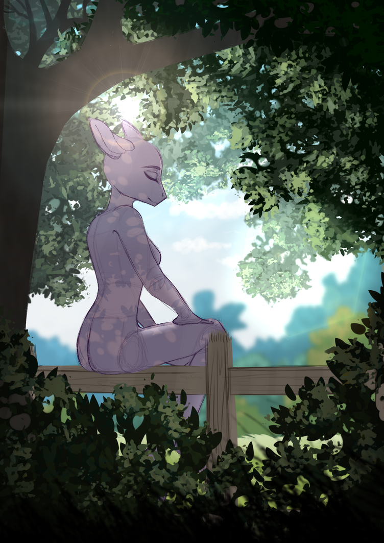 Forest maiden [WIP] by GLaSTALINKA