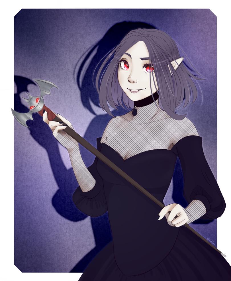 Missi the vampire [Sketch|Gift for ChibiDonDC] by GLaSTALINKA