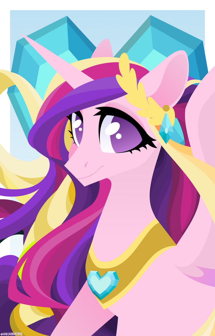 Princess Cadence portrait by GLaSTALINKA