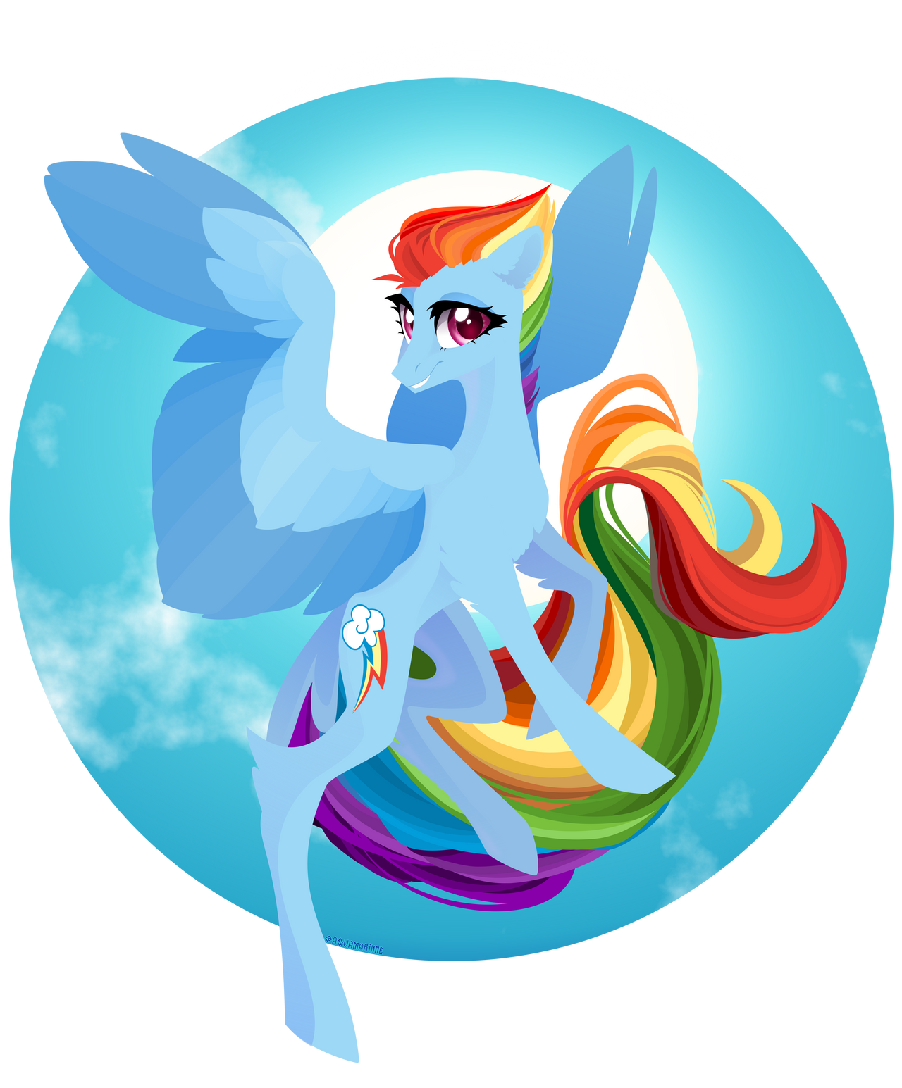 Rainbow Dash by GLaSTALINKA