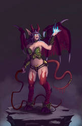 From the World of Warcraft - Succubus by FrozenFerocity