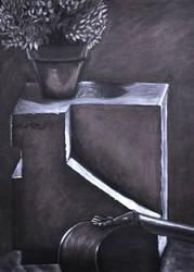 Charcoal Still Life 01 by FrozenFerocity