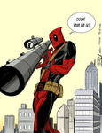Deadpool - a Mike McKone homage for a friend by ablackmanpresents