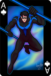 Gotham Cards - Nightwing - Asanorturna by brunotsu