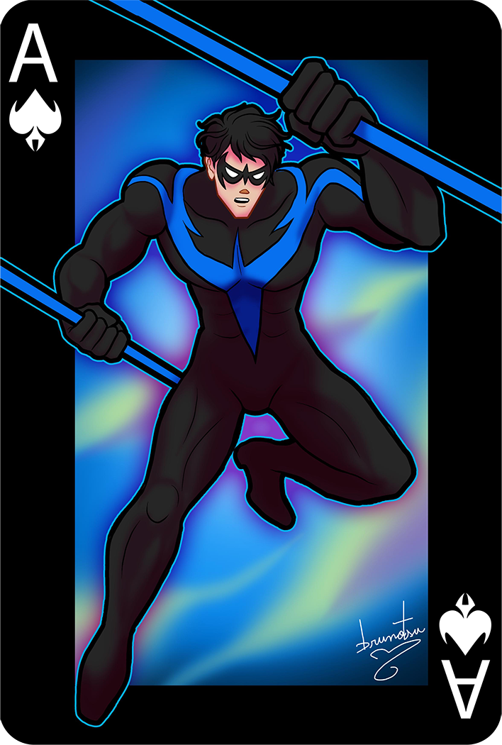Gotham Cards - Nightwing - Asanorturna by brunotsu