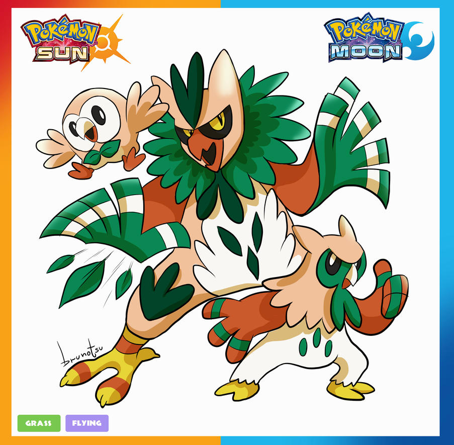 Pokemon - Rowlet by brunotsu