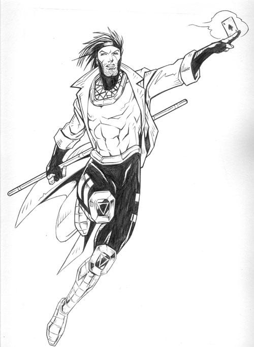Gambit A-Leaping by charkxl