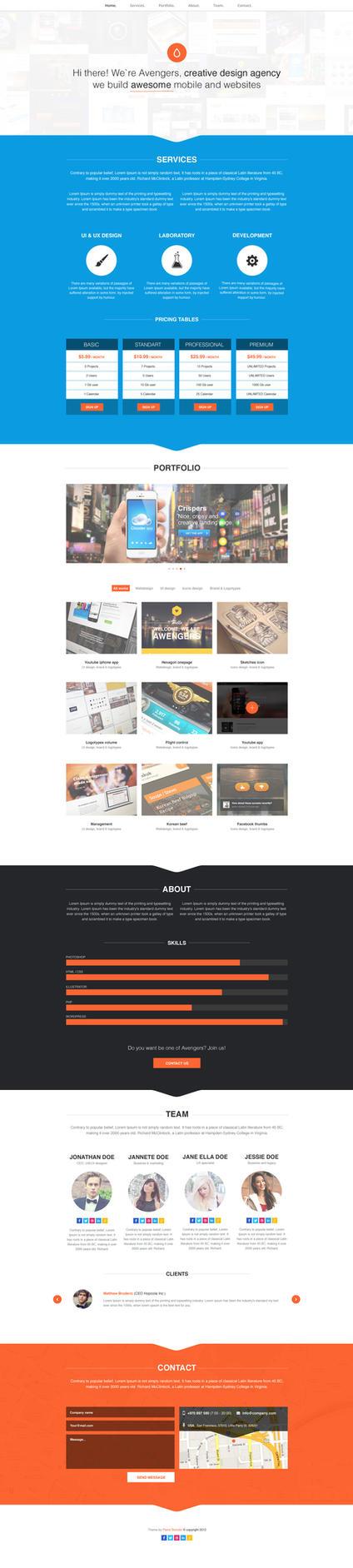 Fresh onepage portfolio by NumarisLP