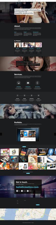 Creatico - HTML5 onepage creative portfolio