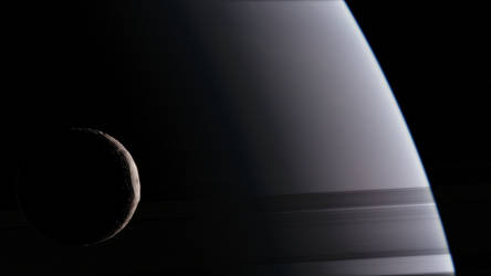 Saturn Mimas 4K