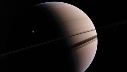 Saturn Enceladus 4K
