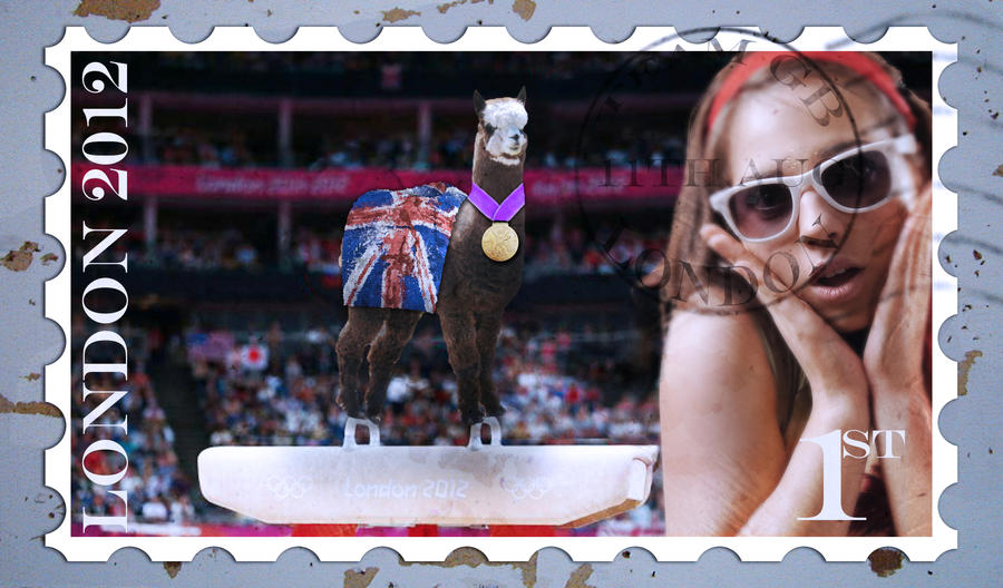 Larry the Olympic Gymnast Postage Stamp by BigA-nt