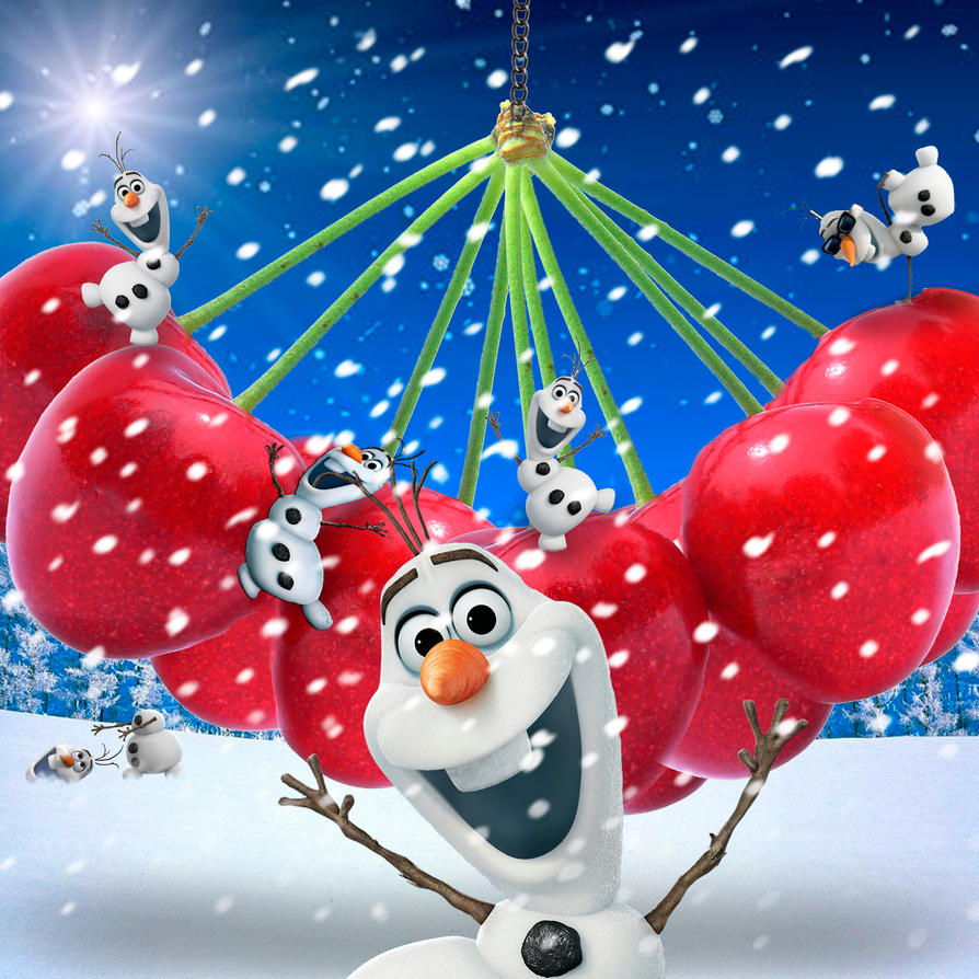 Olaf loves Cherries by BigA-nt