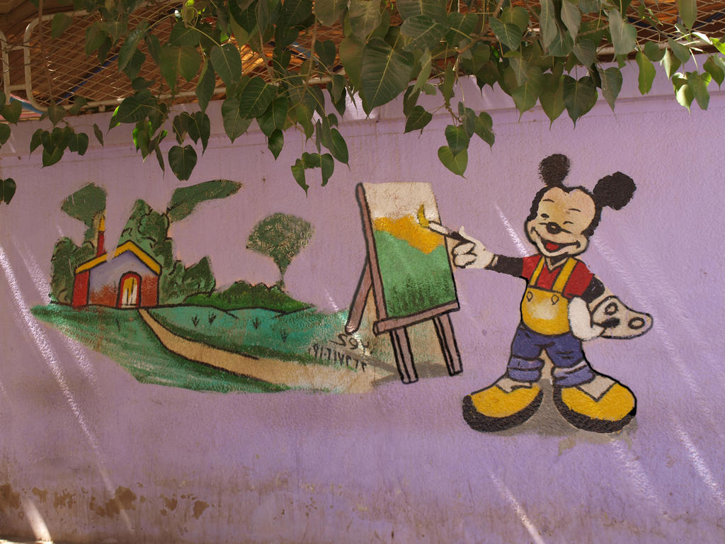 Painting on a wall by BigA-nt