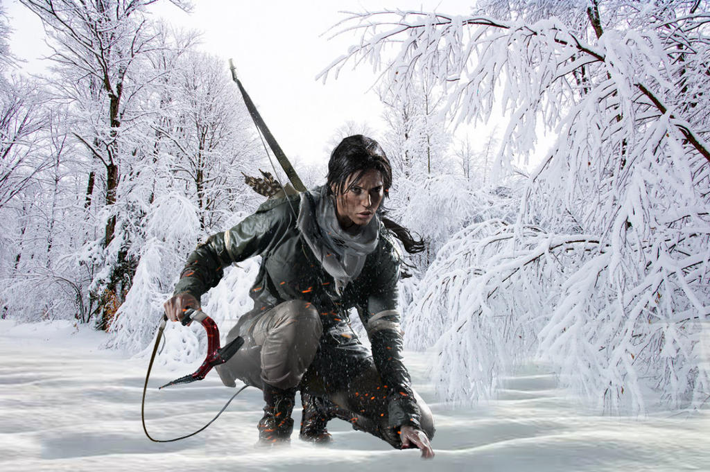 Rise of Lara Croft in the snow by BigA-nt