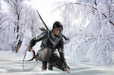 Rise of Lara Croft in the snow