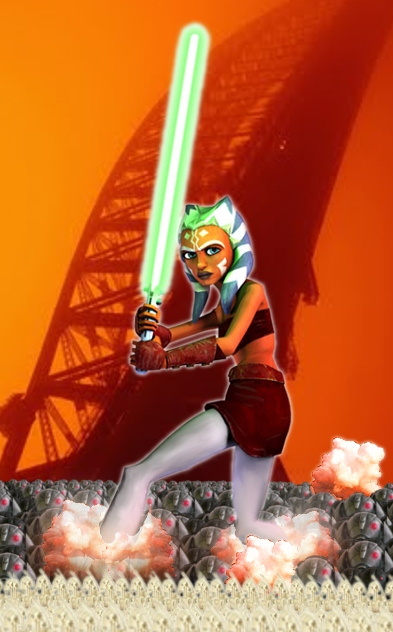 Ahsoka as a giantess by MagicalyMade