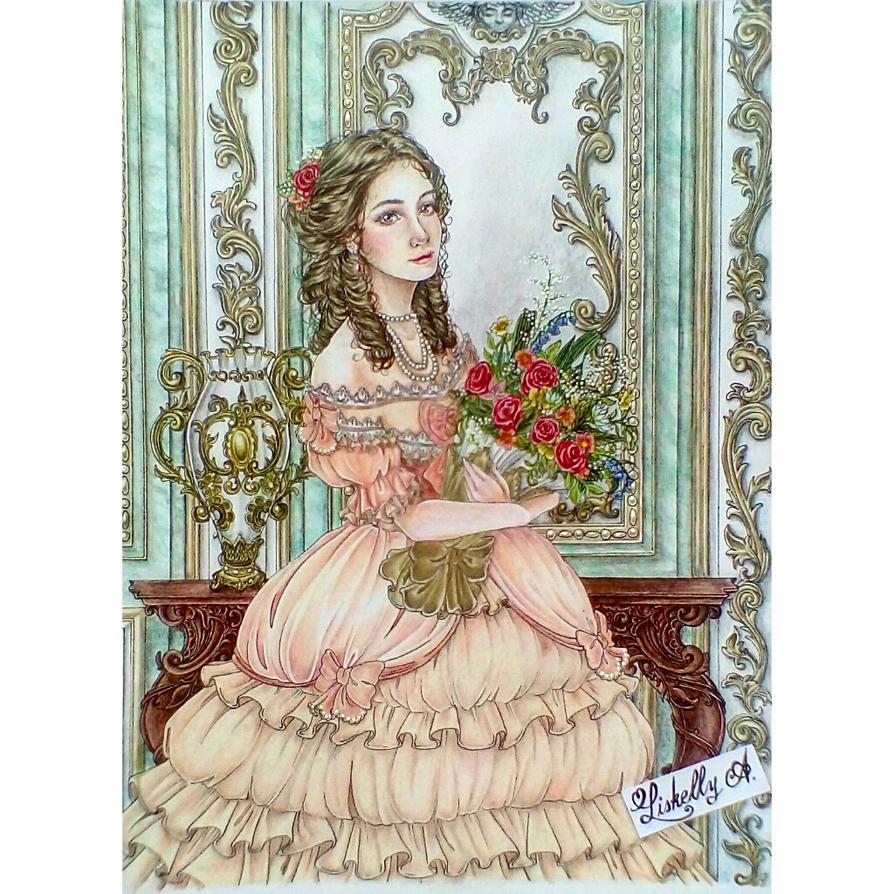 Rococo girl by Risukelis