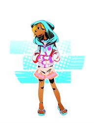 Girl in a hoodie by OOKiiKuN