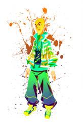 Boy in a jacket by OOKiiKuN