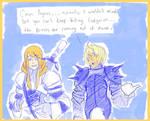 Agrias and Ramza chattin