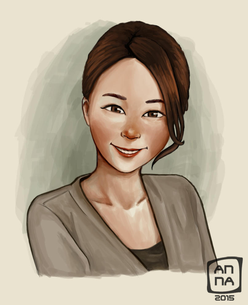Fiverr portrait by Nuditon