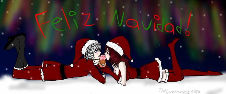 Feliz Navidad - CHRISTMAS DRAWING CHALLENGE-DAY 11 by TheLoneRestlessRose