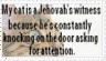My Cat Is A Jehovah's Witness by Rokatsu