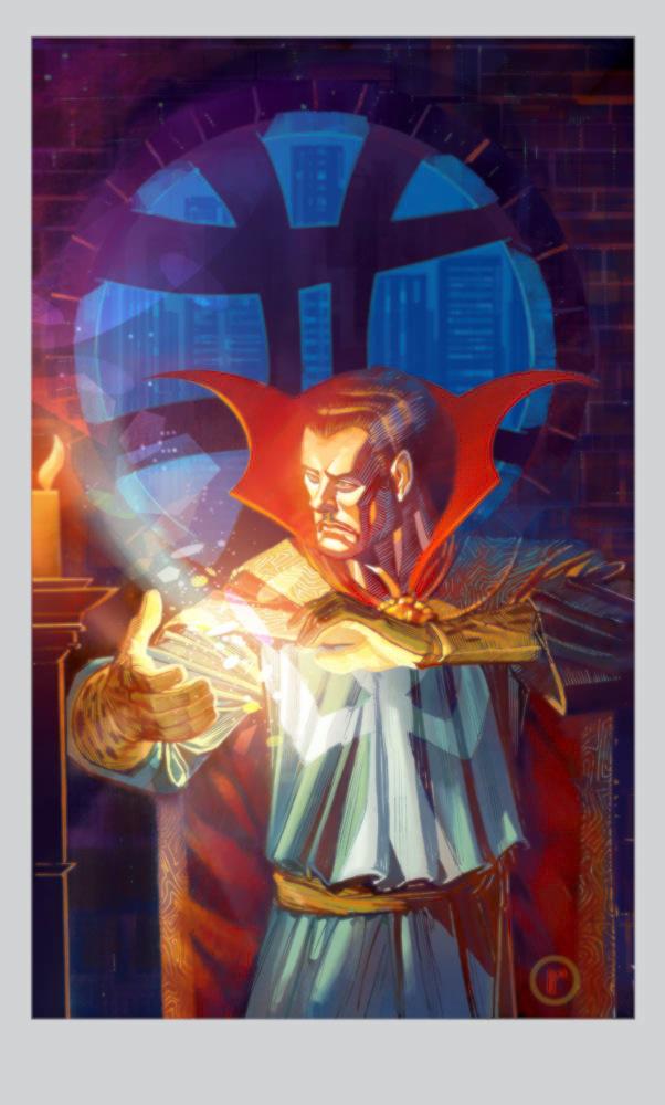 Dr.Strange print by riq