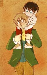 Bilbo and Frodo Baggins