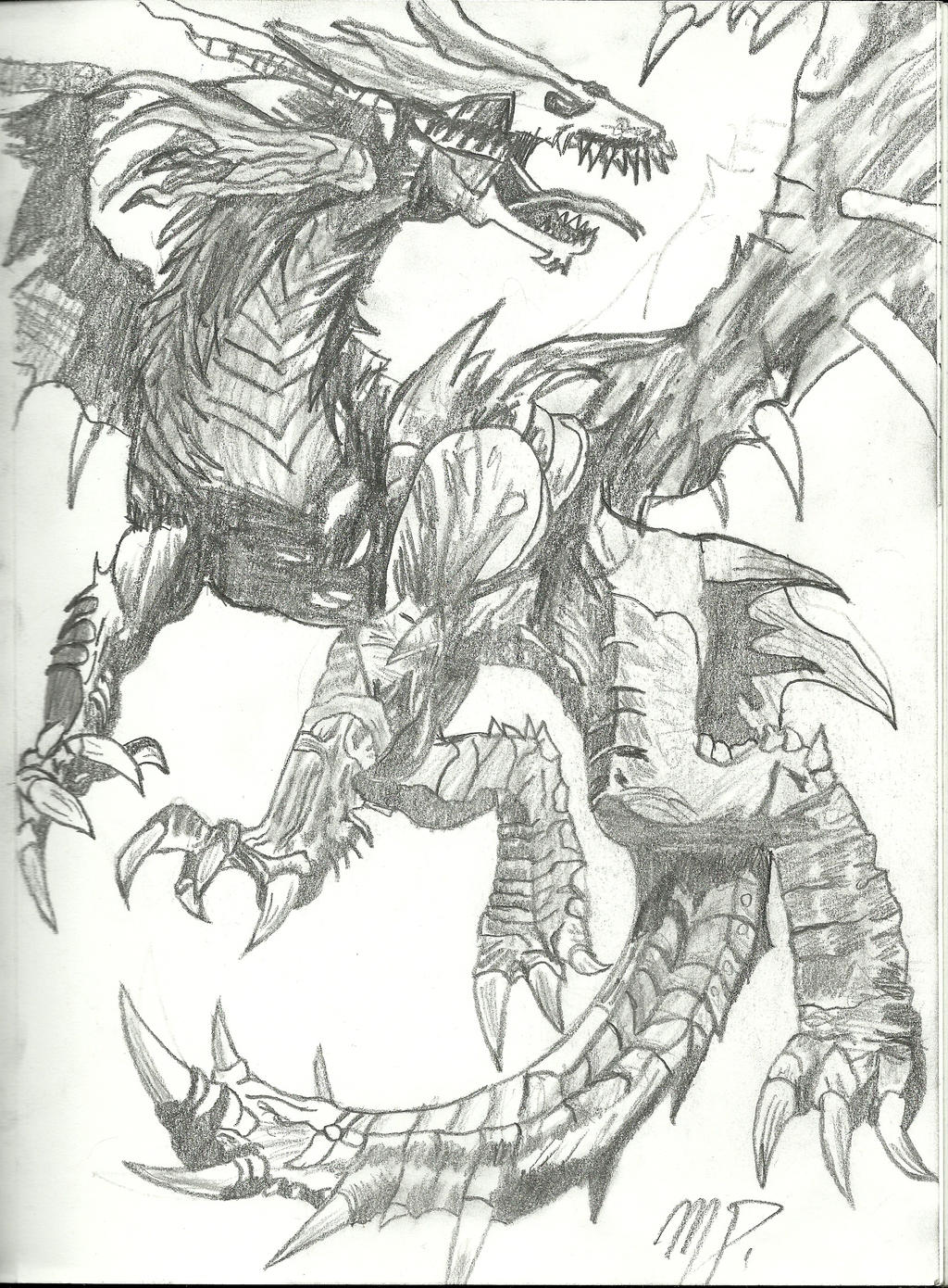 dragon drawing by matonoke on deviantart