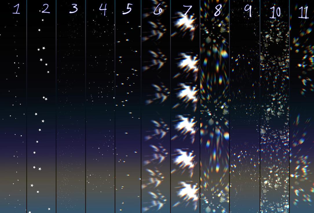 Glitter/star brushes for clip studio paint by 23i2ko