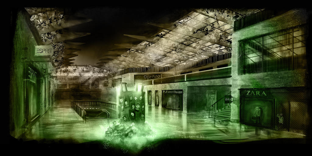 Zombie Apocalypse Mall by mindschnapps