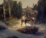 Forest deer knight
