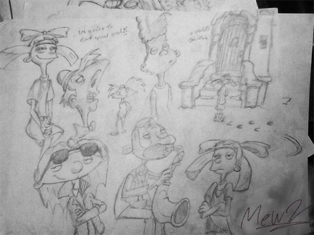 Football head sketches. by mewtwo3291