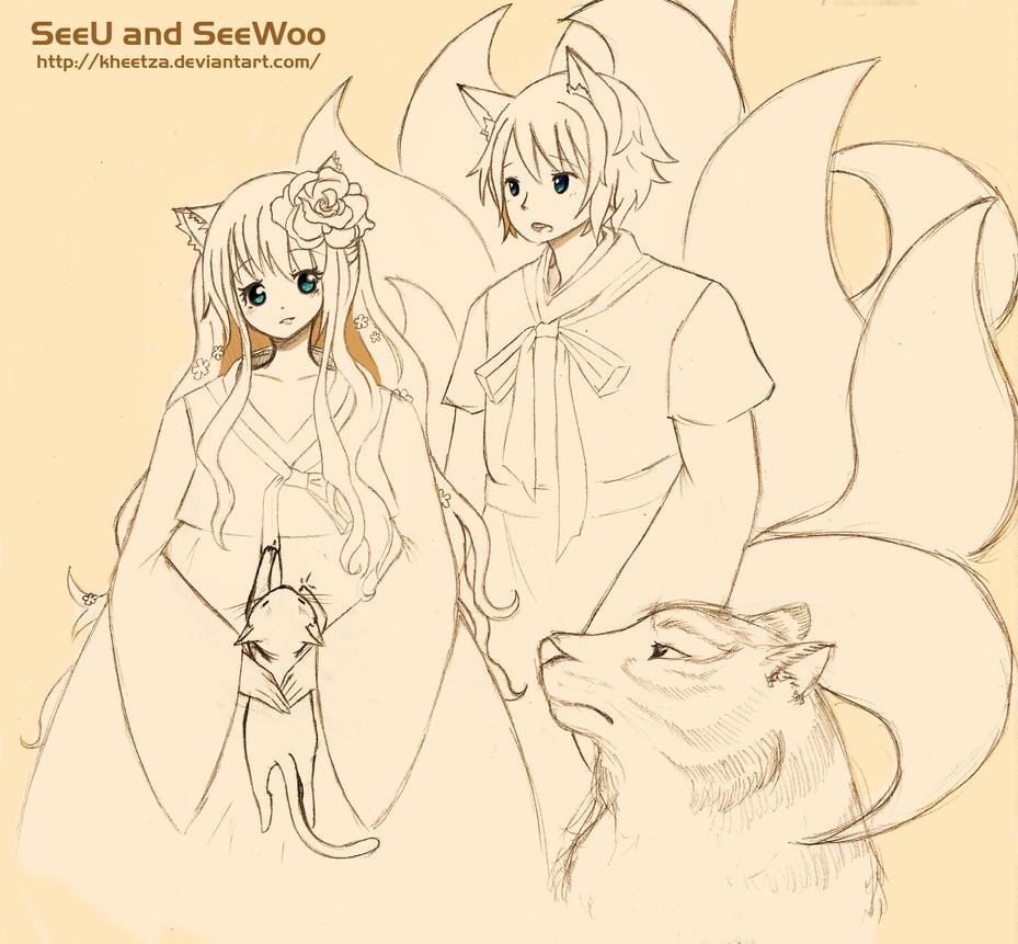 SeeU and SeeWoo by Kheetza