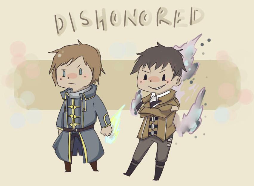 Corvo and outsider by DragunovWeland