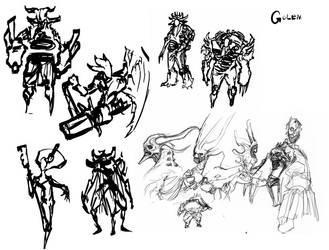 dominance war 4 sketches 1 by Chenthooran
