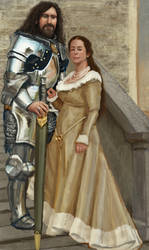 knight and maiden by Chenthooran