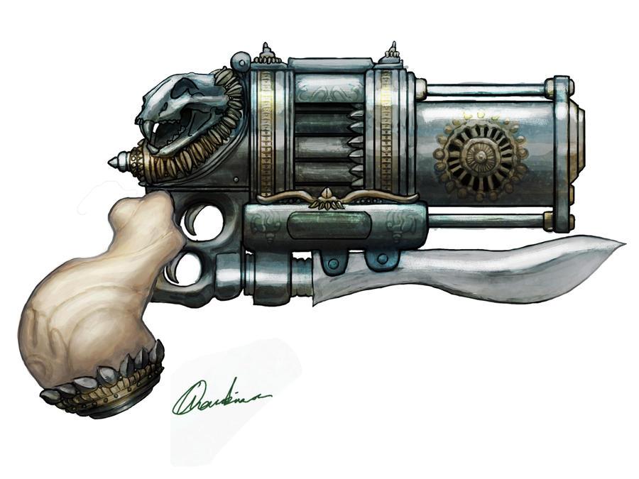 Badass Gun Concept by mythrilgolem1
