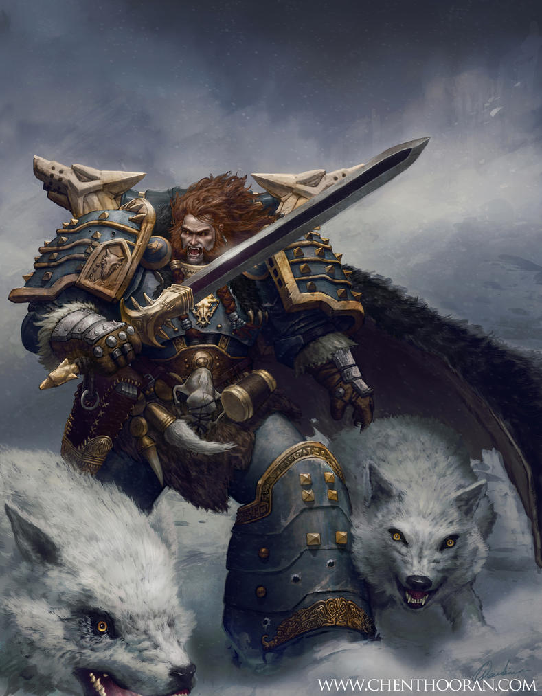 [W30K] Collections d'images : Les Primarques - Page 4 Leman_russ_space_wolf_primarch_by_mythrilgolem1-d49yysy
