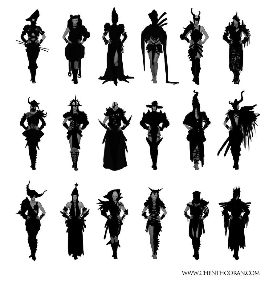 Priestess Thumbnails by Chenthooran
